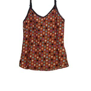 Anthropologie Porridge Rust Polka Dot Cami Top M2